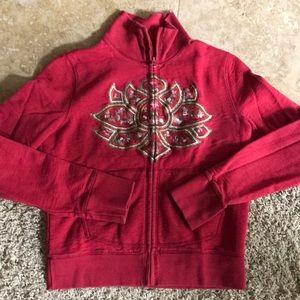 Lucky Brand Zippered Sweatshirt Size Large